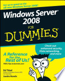Windows Server 2008 For Dummies Book