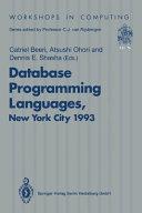 Database Programming Languages  DBPL 4