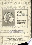 World trade in typewriters, 1948-1958