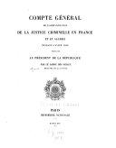 Compte général de l'administration de la justice criminelle ...