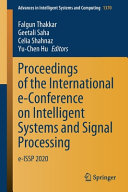 Proceedings of the International e-Conference on Intelligent Systems and Signal Processing