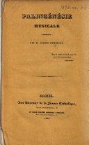 Palingénésie musicale, sommaire. (Extrait de la France Catholique.).
