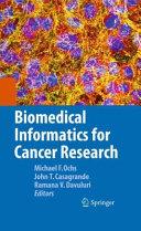Biomedical Informatics for Cancer Research Pdf/ePub eBook