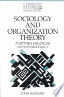 Sociology and Organization Theory