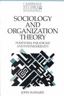Sociology and Organization Theory