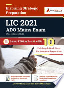 LIC ADO Mains Exam 2021   10 Mock Tests For Complete Preparation