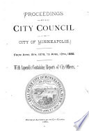Proceedings Of The City Council Of The City Of Minneapolis Minnesota