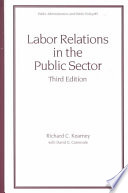Labor Relations In The Public Sector Third Edition