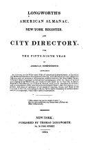 Longworth's American Almanac, New York Register, and City Directory ...