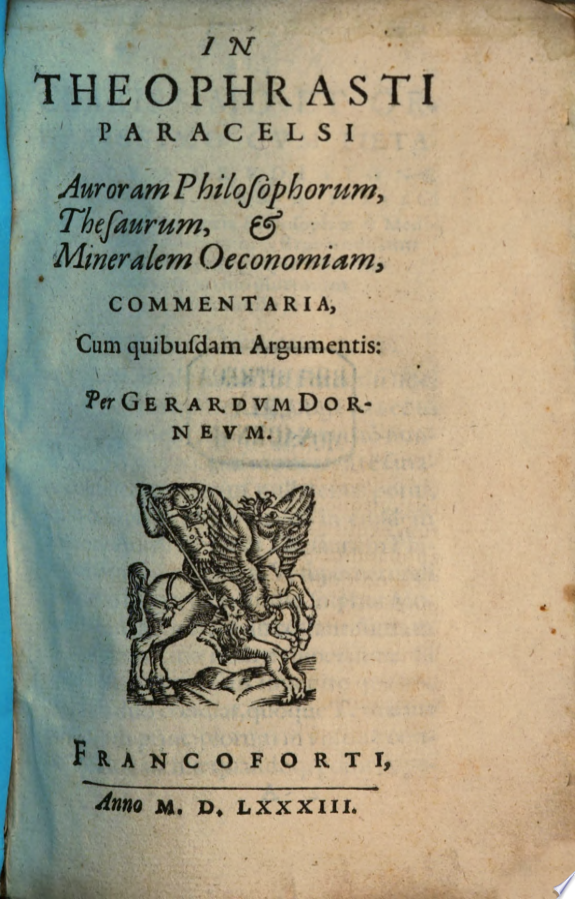 Gerardi Dornei In Theophrasti Parac