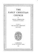 The Early Christian Church The Second Christian Century