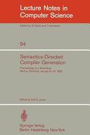 Semantics Directed Compiler Generation
