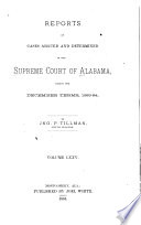 Reports of Cases Argued and Determined in the Supreme Court of Alabama Book PDF