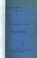 A General Outline of Plainsong
