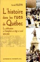 L'histoire dans les rues de Québec