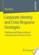 Corporate Identity And Crisis Response Strategies Book PDF