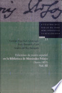 Ediciones de teatro español en la Biblioteca de Menéndez Pelayo: A-D. 1-1401