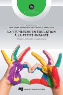 Pdf La recherche en éducation à la petite enfance Telecharger
