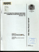 Open Automated Demand Response Communications Specification Version 1 0