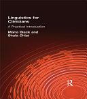 Linguistics for Clinicians ebook