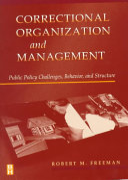 Correctional Organization and Management