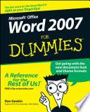 List of Dummies Word E-book