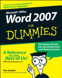 Word 2007 For Dummies Pdf/ePub eBook
