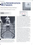 Preserving Historic Ceramic Tile Floors