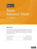 Texas Advance Sheet May 2012