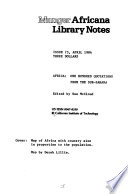 Munger Africana Library Notes