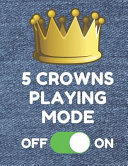 5 Crowns Playing Mode  Book of 100 Score Sheet Pages for 5 Crowns  8 5 by 11 Inches  Funny Denim Cover