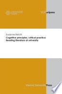 Cognitive Principles Critical Practice Reading Literature At University