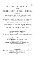 The Law and Practice of the Bankruptcy Court, Ireland