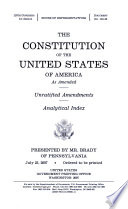 The Constitution of the United States of America as Amended Book