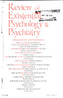 Review of Existential Psychology   Psychiatry