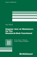 Singular Sets of Minimizers for the Mumford Shah Functional