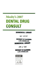 Cover of Mosby's 2007 Dental Drug Consult