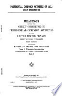 Presidential Campaign Activities of 1972  Senate Resolution 60