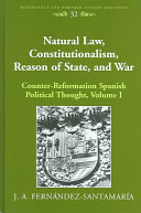 Natural Law, Constitutionalism, Reason of State, and War ebook