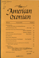 The American Oxonian Book
