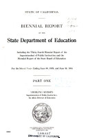 Biennial Report of the State Department of Education