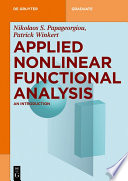 Applied Nonlinear Functional Analysis Book