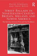 Street Ballads in Nineteenth-Century Britain, Ireland, and North America Pdf/ePub eBook