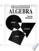 Algebra: Themes, Tools, Concepts - Teacher Resources