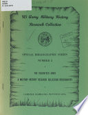 The Volunteer Army A Military History Research Collection Bibliography