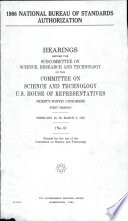1986 National Bureau of Standards Authorization