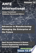 Advances In The Ergonomics In Manufacturing Managing The Enterprise Of The Future
