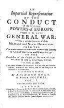 An Impartial Representation of the Conduct of the Several Powers of Europe  Engaged in the Late General War