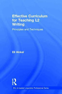 Effective Curriculum for Teaching ESL Writing and Language Building