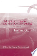 Global Governance and the Quest for Justice   Volume IV
